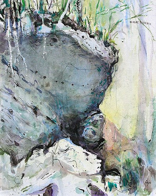 overhang watercolour