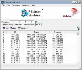 Zakir's Latest Software: WildPackets IP Subnet Calculator