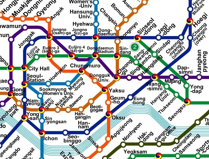 Korean Subway Map English.Images And Places Pictures And Info Seoul Subway Map English