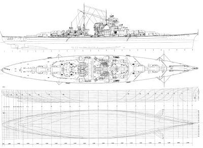 Warship Battleship The Bismarck Drawings