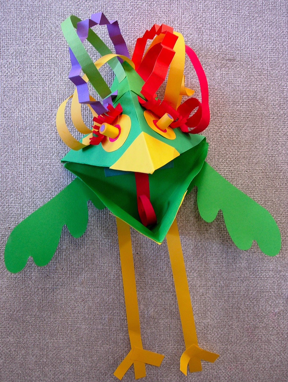 Paper Bird Sculpture In Honor Of Chinese New Year Schoolartsroom Art