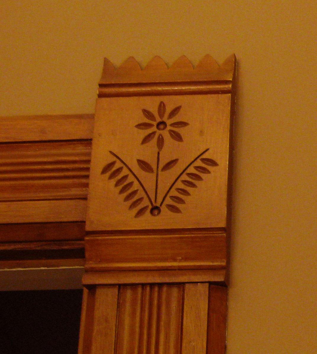 1893 Victorian Farmhouse Antique Woodwork Flower Design