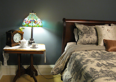 1893 Victorian Farmhouse: Bedside Lamp - North Bedroom