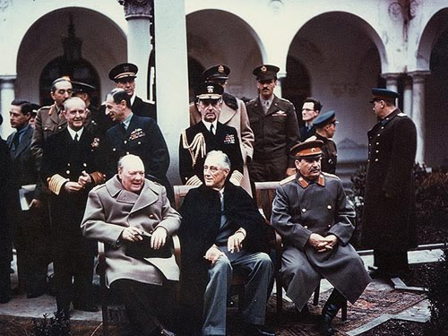 Черчилль, Рузвельт и Сталин