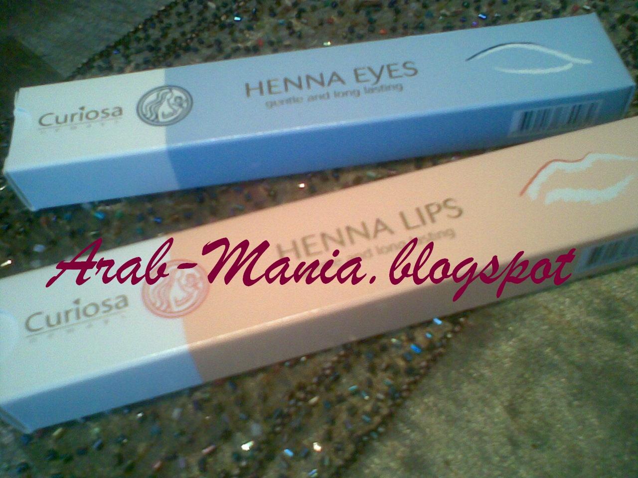 Henna Lips: Arab Mania ♥: Md Lashfactor / Lip,eye Henna Semi Permanent