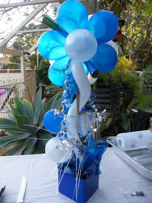 enchanted events and balloons backyard 21st birthday blue white