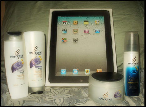 i commit to change, intensive, treatment, ipad, night, miracle leave on, cream, pantene, prize, shampoo