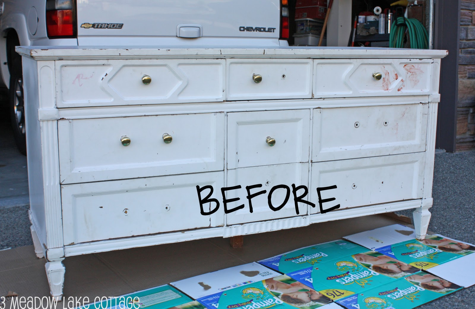 Repainting An Old White Dresser Awesome Craig S List Find