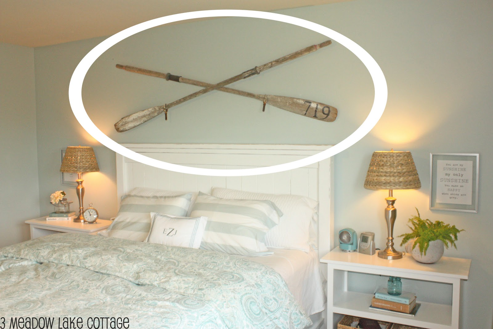 How Does One Display Two Oars On Wall