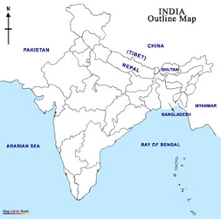 India Outline Map Image – Fashionsneakers club
