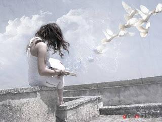 mujer+palomas