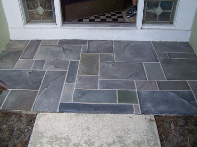 Mural Wizard Faux Slate Walkway Painted On Concrete
