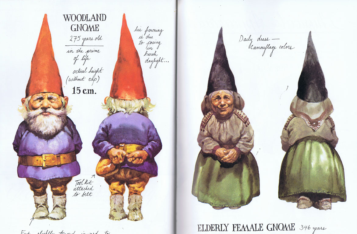Female Gnome: A Billion Tastes And Tunes: Gnomes By Rien Poortvliet And