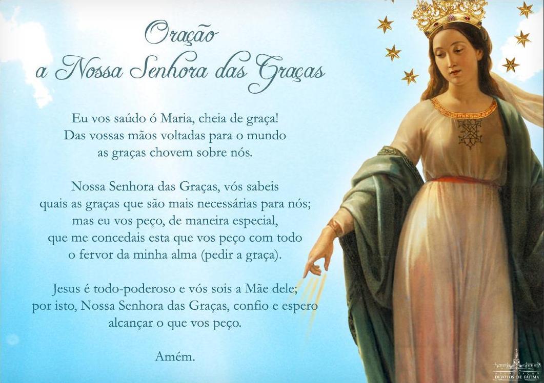 Mensagem De Nossa Senhora Aparecida Que Ela Interceda Por: NÓS OS LEIGOS: Oração A Nossa Senhora Das Graças