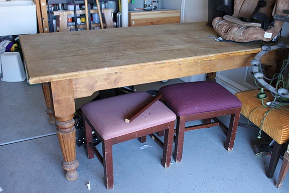 Craigslist Dining Table Before After, Craigslist Dining Room Table