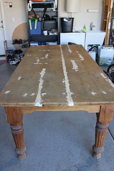 Craigslist Dining Table Before After, Craigslist Dining Room Set