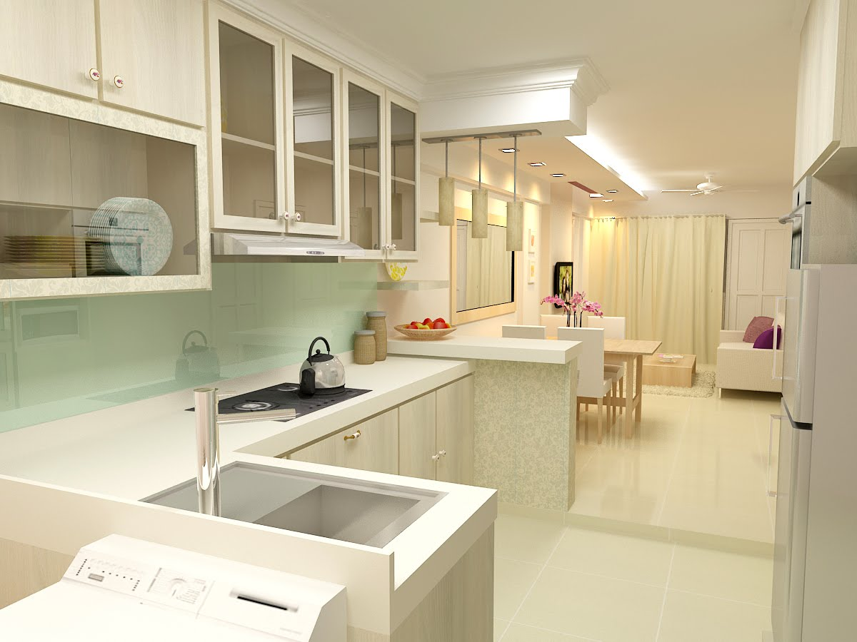 3 Room HDB Kitchen Design