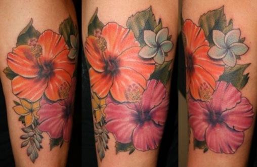 Side Hawaiian Flower Tattoos: Tattoos Gallery: February 2011