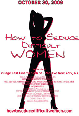 how to seduce difficult women, movie, film, poster