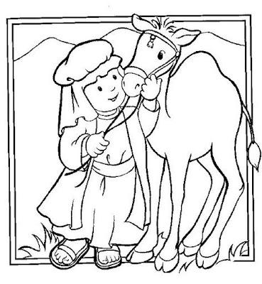 Los Niños Y La Biblia Láminas Bíblicas Para Colorear