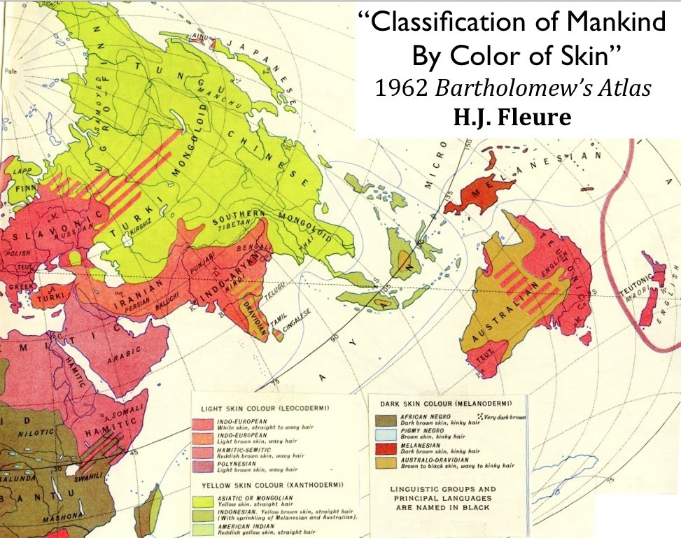 Races Of The World Map.Racial Classification H J Fleure And The Decline Of Geography