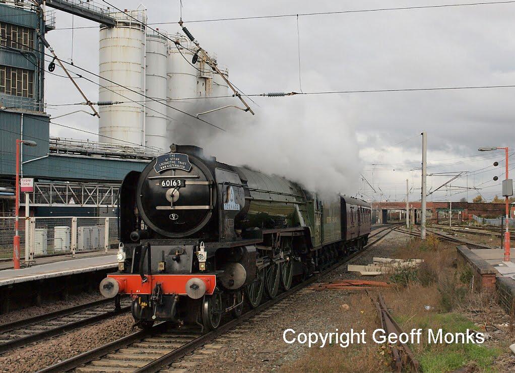ALONG WINWICK LINES: Britannia and Tornado