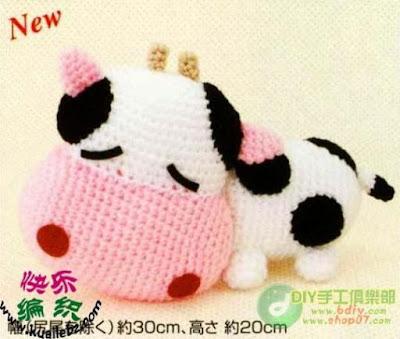 Un Poquito de Todo: patron amigurumi vaquita (crochet)