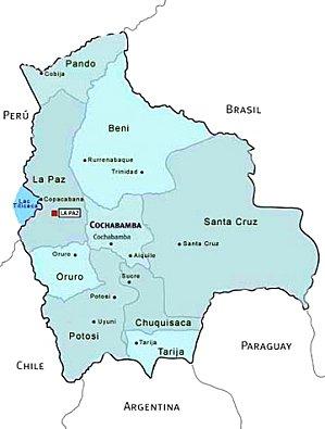 Mapa Politico De Bolivia Bolivia Informa