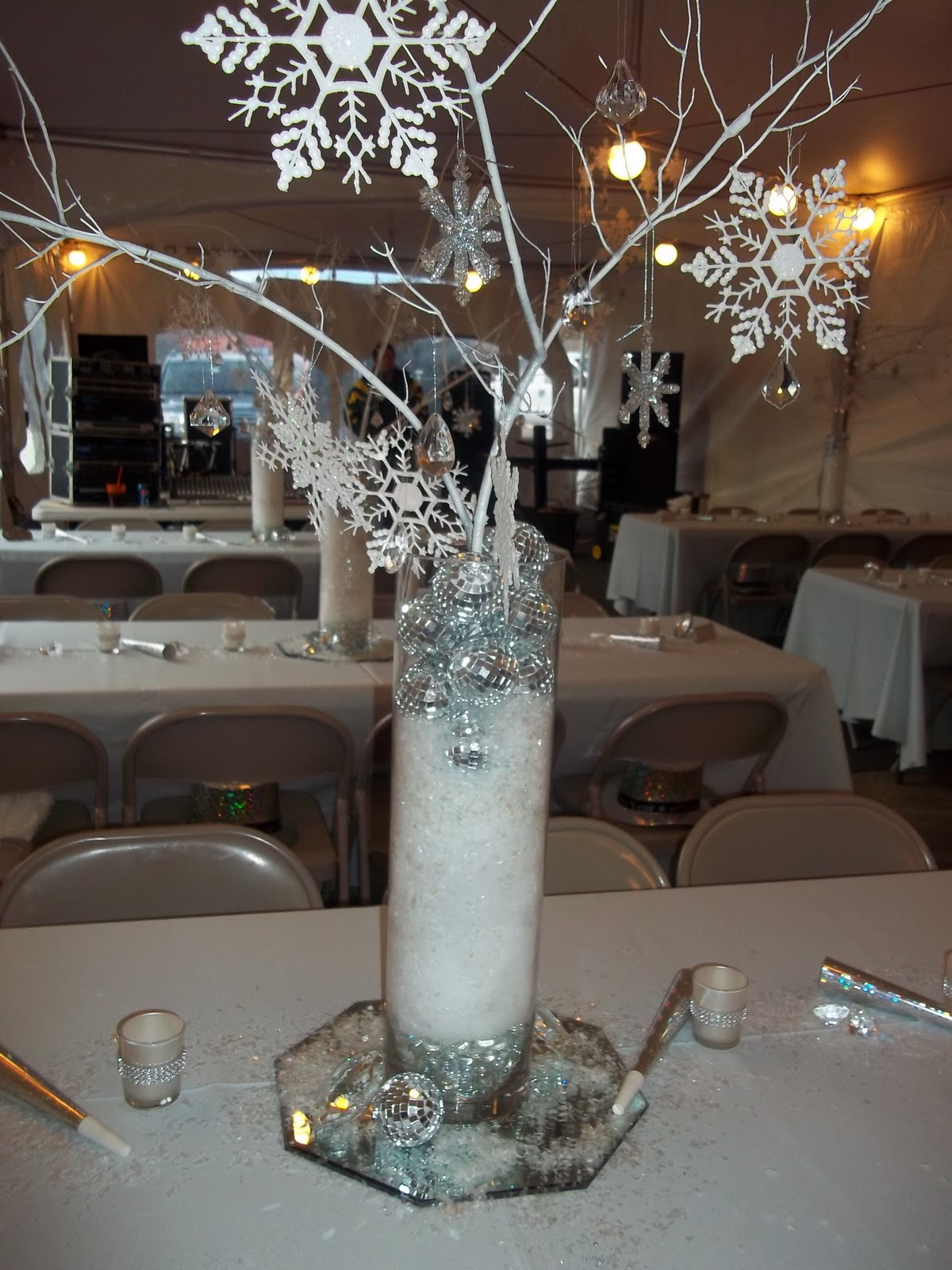The Posh Pixie Snow And Crystal Centerpiece