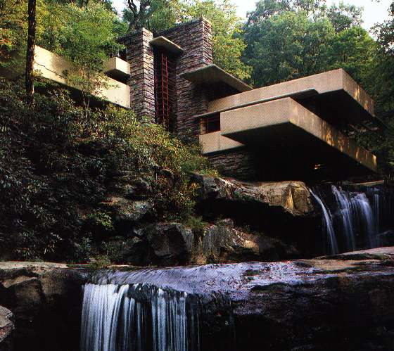 "7 Amazing Houses Built Into Nature: ESL FIVE: ""Frank Lloyd Wright: A Great Building Designer"