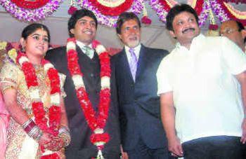 Big B At The Wedding Ceremony Of Prabhus Son Vikram In Chennai