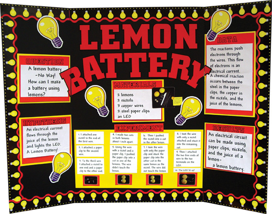 lemon battery research paper • small paper sticky labels  however, this lemon battery does not create enough electrical current to light a flashlight bulb the led is very dim, due to the .