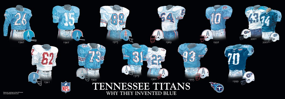 668697ca Tennessee Titans Uniform and Team History   Heritage Uniforms and ...