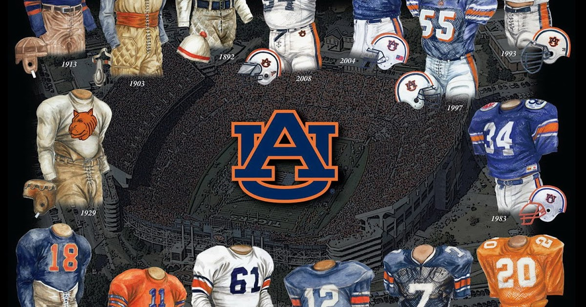 Auburn University Football Uniform And Team History