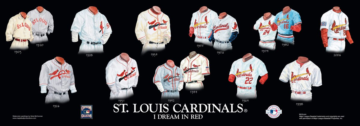 90f9a87a8b14 St. Louis Cardinals Uniform and Team History