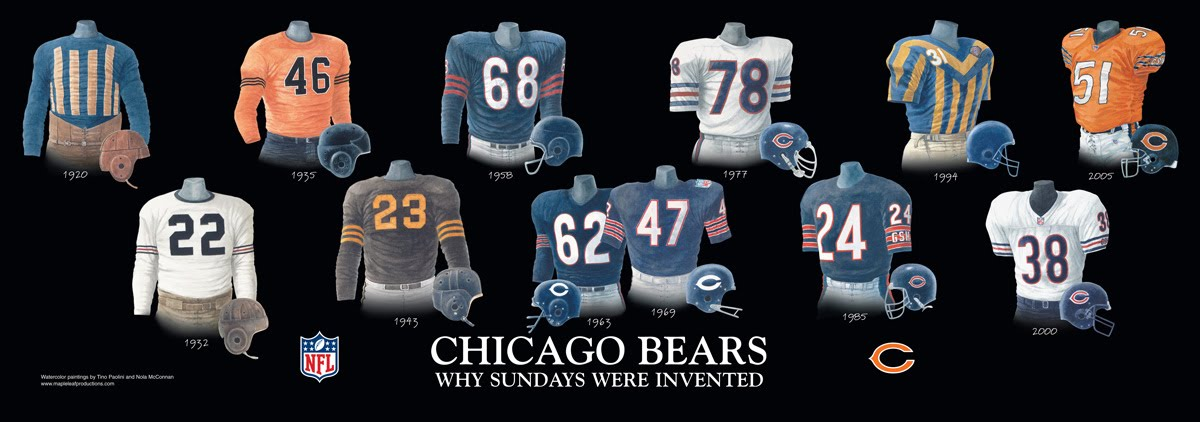 low priced 37ce8 8a674 Chicago Bears Uniform and Team History | Heritage Uniforms ...