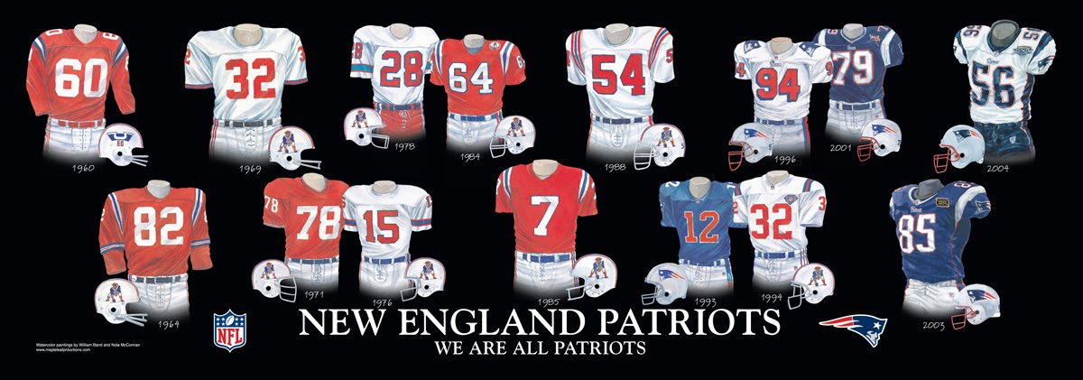 New England Patriots Uniform and Team History  1e9b68ee2