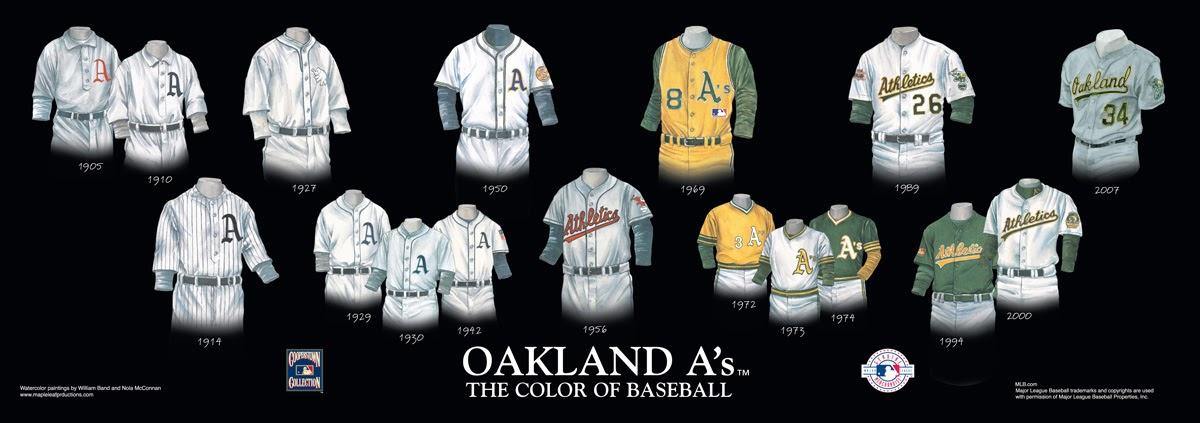 Oakland Athletics Uniform and Team History  9fcd65c9b59