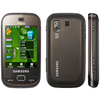 Samsung B5722 Duos Dark Brown