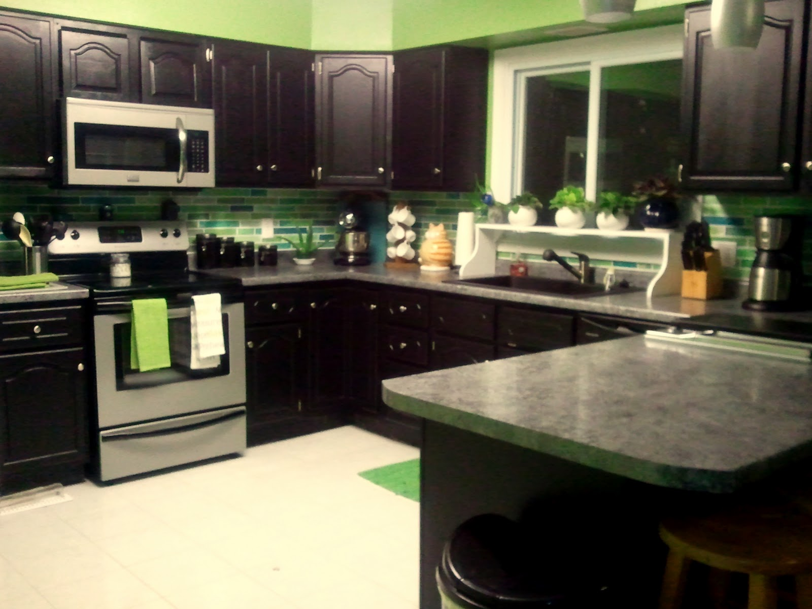 Spring Green Kitchen Cabinets