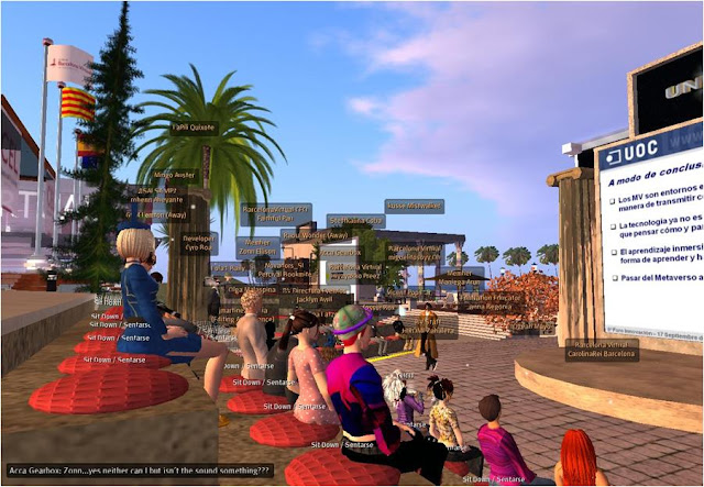 David Maniega, Director of Innovation of the UOC, opened the conference in Second Life