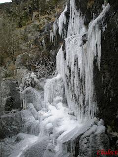 hielo en el valle del jerte