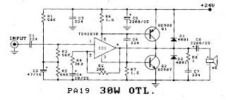 world technical: Power Amplifier OTL 30W by IC TDA2030
