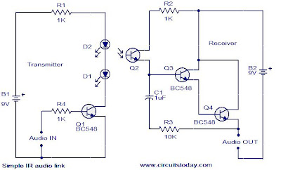 wiring diagram contactor and overload world technical: simple ir audio link