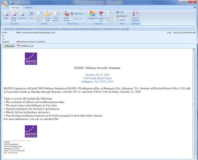 contagio: Sep 21, 2009 CVE-2009-3957 PDF w Trojan Scar - 2009