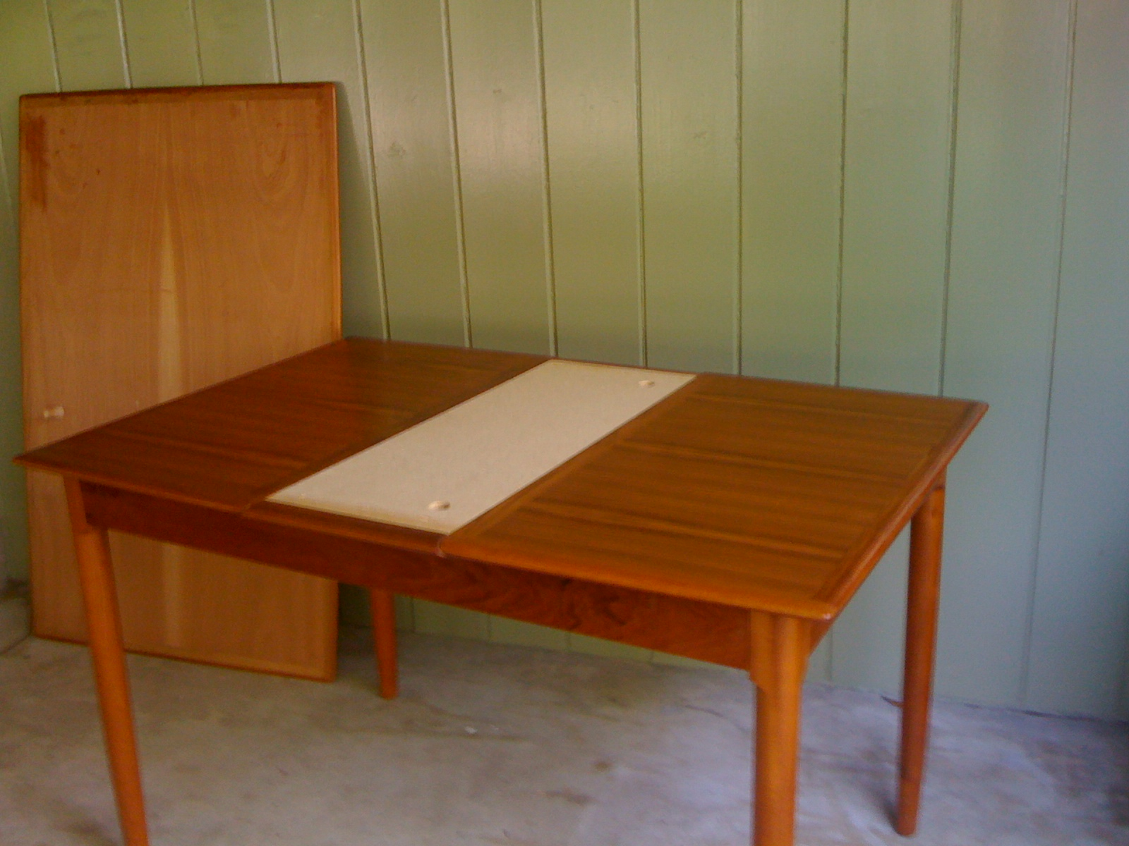 sold danish teak leaf dining room table