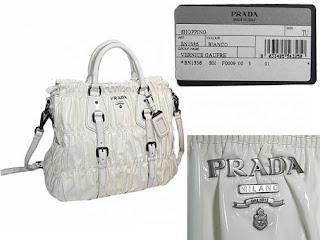 77eda9229b2a13 Pre-owned DESIGNER BAGS: Pre-loved PRADA BN1336 VERNICE GAUFRE ...