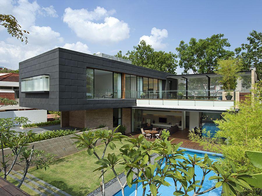 Diseno de casa en singapur dise o de casas home house design - Fotos de casas en forma de l ...