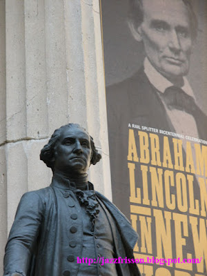 Georges Washington Abraham Lincoln Sculpture New york