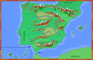 Mapa Relieve De España Para Niños.Ele